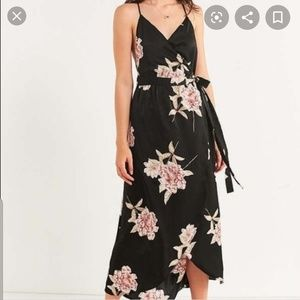 Urban Outfitters Floral Wrap Midi Dress